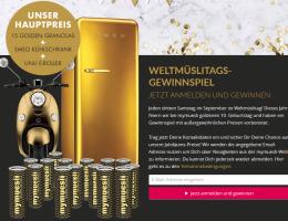 Smeg Kühlschrank Gewinnen : Mymuesli verlost einen goldenen elektro roller einen smeg